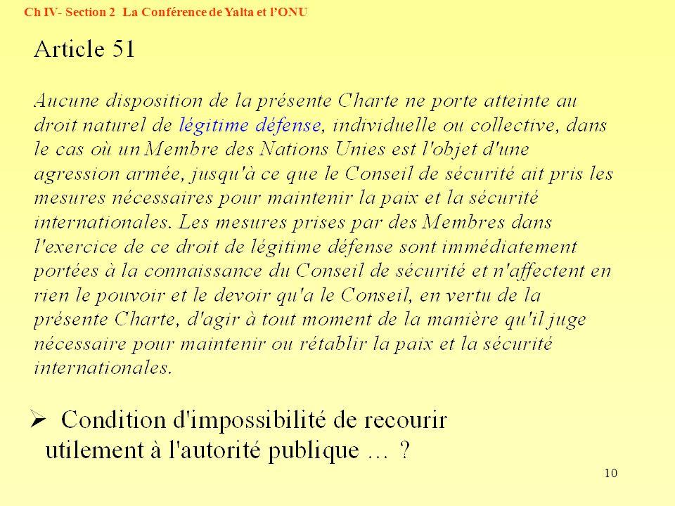 10 Ch IV- Section 2 La Conférence de Yalta et lONU