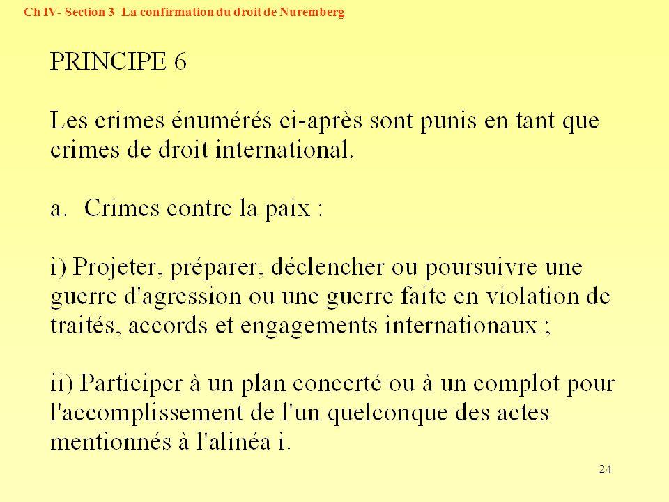 24 Ch IV- Section 3 La confirmation du droit de Nuremberg