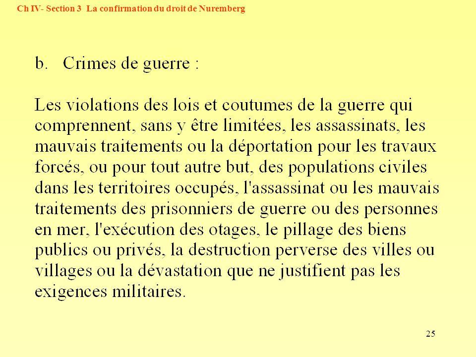 25 Ch IV- Section 3 La confirmation du droit de Nuremberg