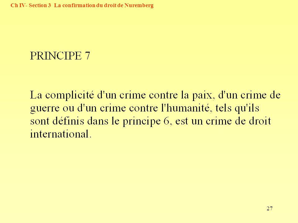 27 Ch IV- Section 3 La confirmation du droit de Nuremberg