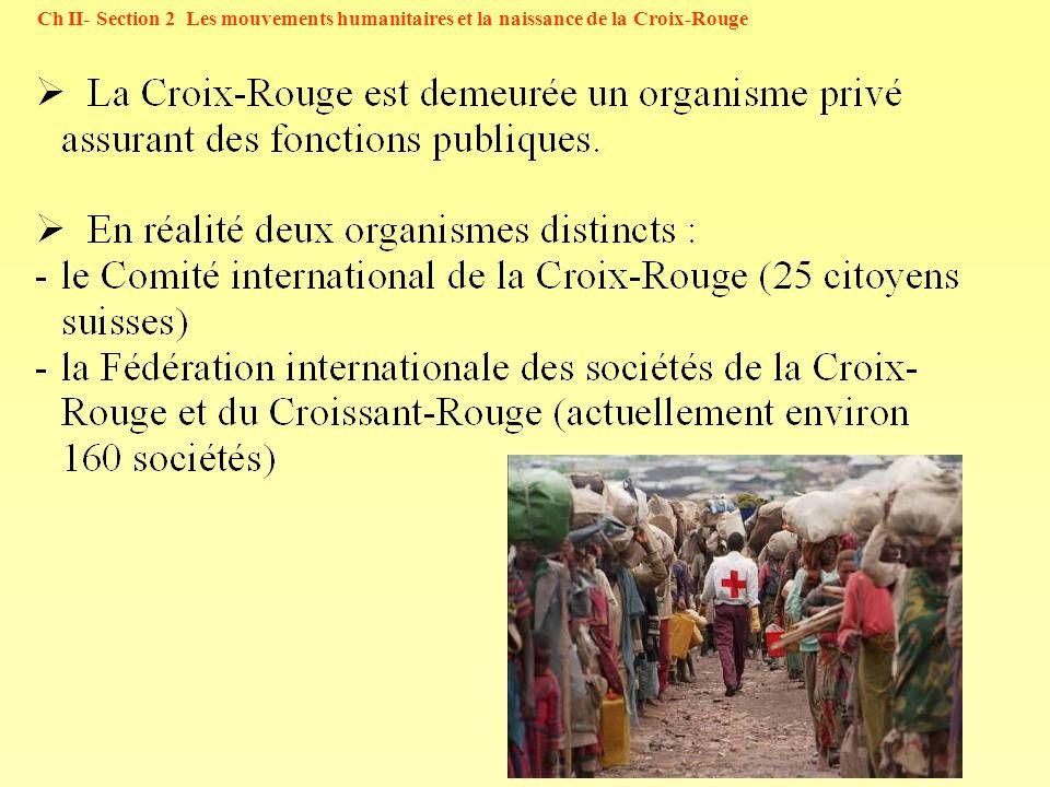 14 Ch II- Section 2 Les mouvements humanitaires et la naissance de la Croix-Rouge