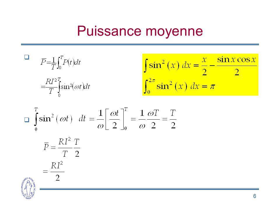 7 Intensité efficace Définition Courant quelconque I eff = k I, k = [0 … 1] Courant sinusoïdal .