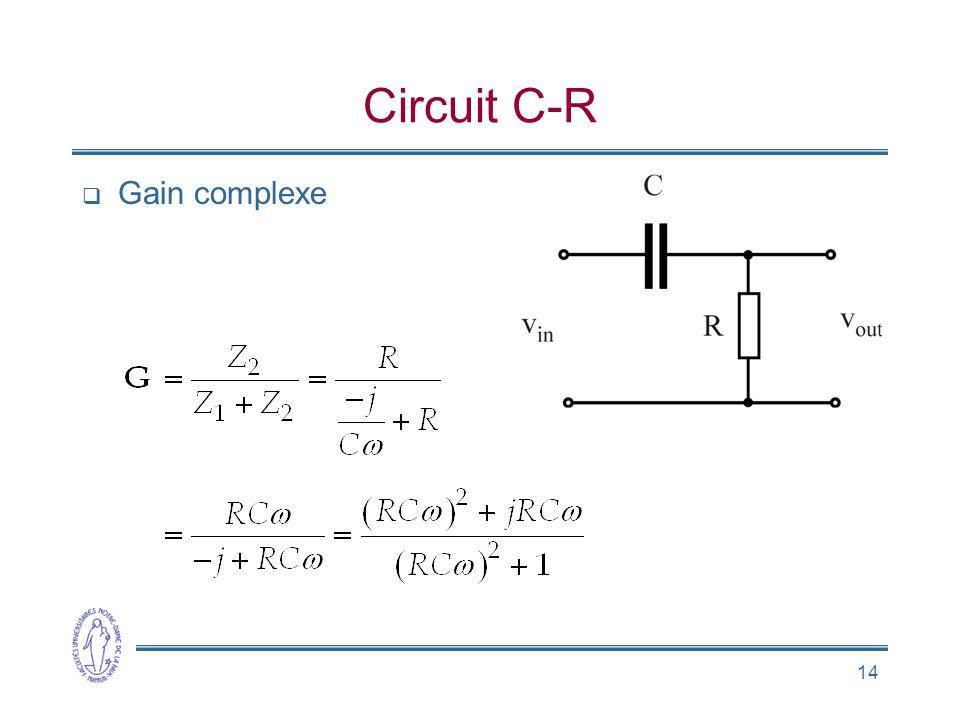 14 Circuit C-R Gain complexe