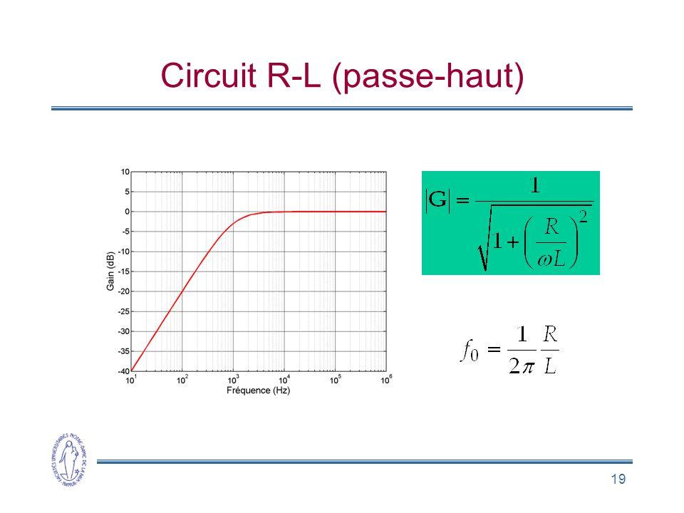 19 Circuit R-L (passe-haut)