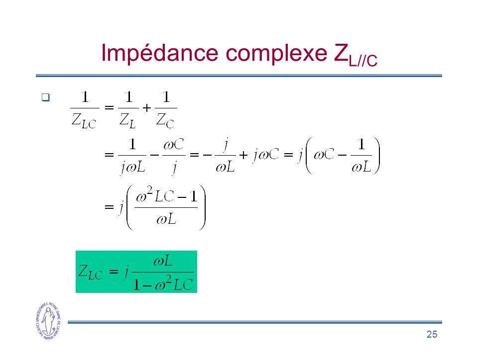 25 Impédance complexe Z L//C