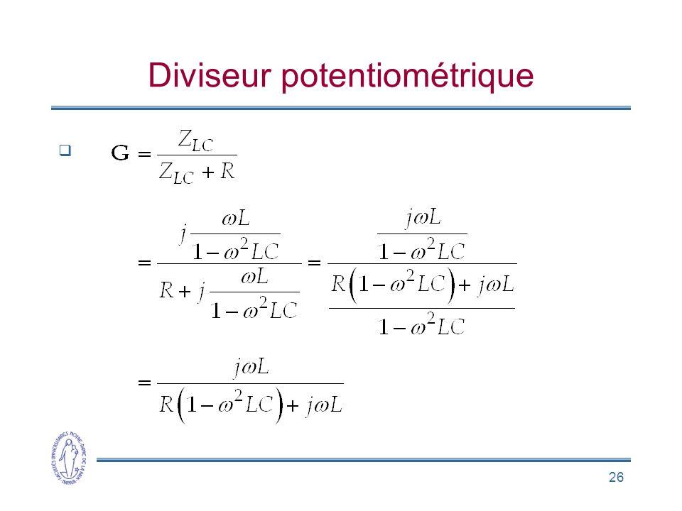 26 Diviseur potentiométrique