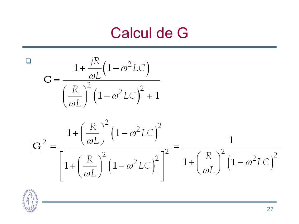 27 Calcul de G