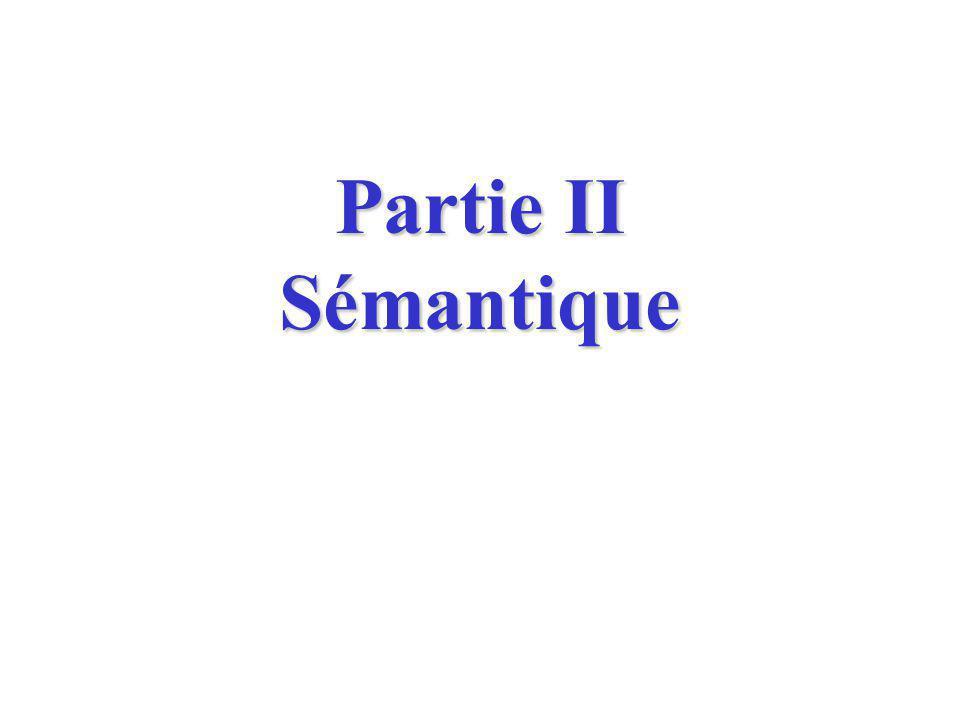 Partie II Sémantique