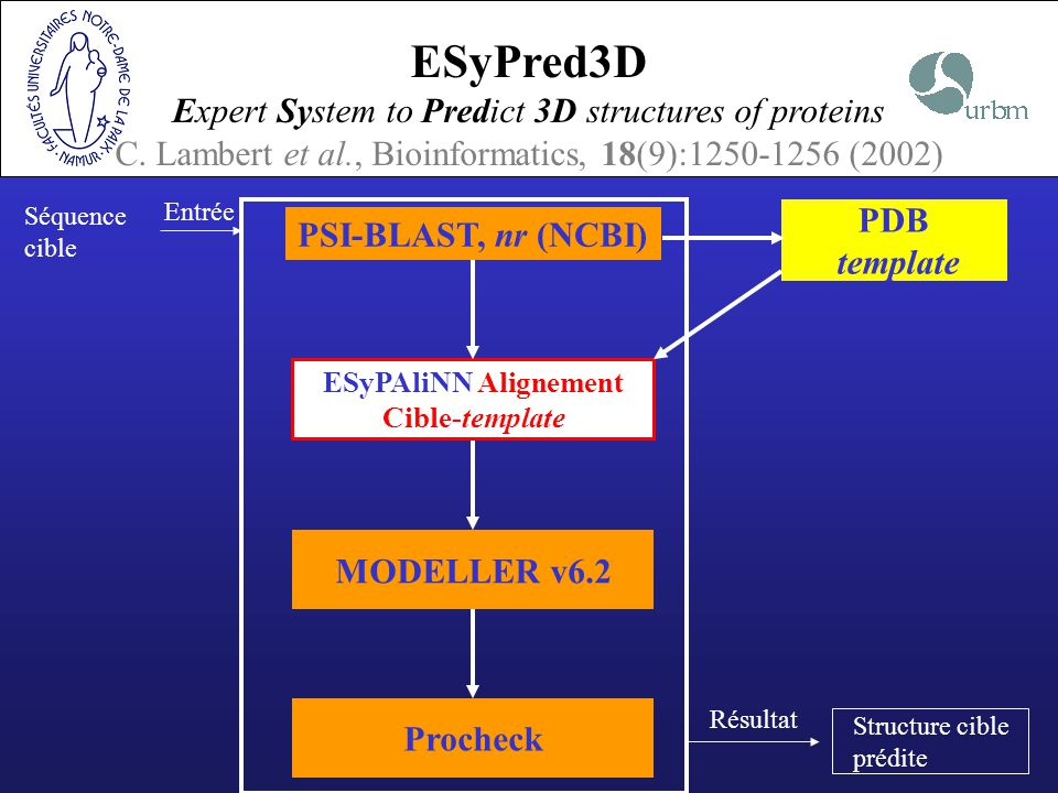 ESyPred3D Expert System to Predict 3D structures of proteins C.