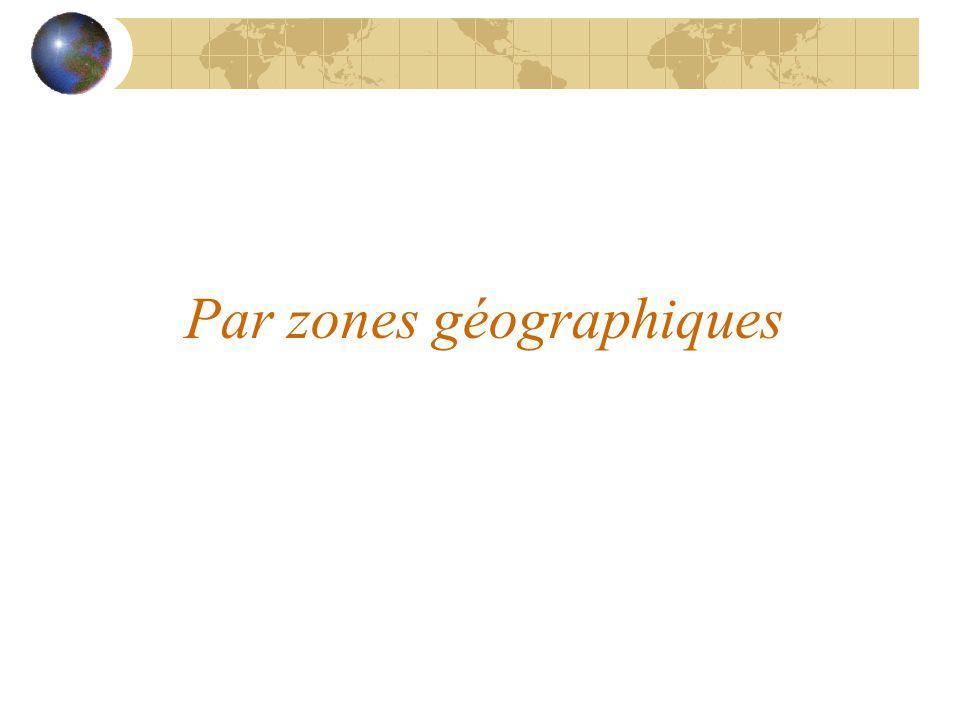Par zones géographiques