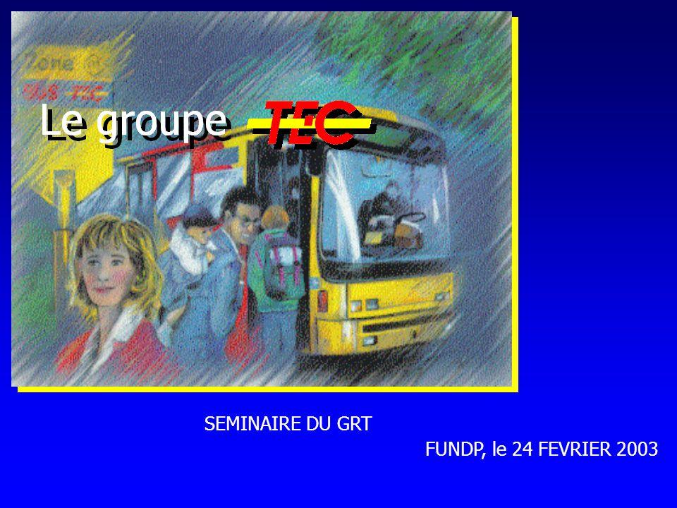 SEMINAIRE DU GRT FUNDP, le 24 FEVRIER 2003
