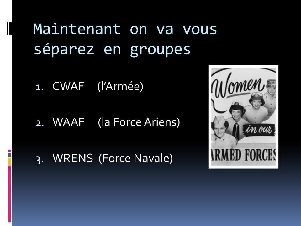 Question 1 Quand est-ce que les femmes ont commencé de servir dans la militaire comme infirmière.