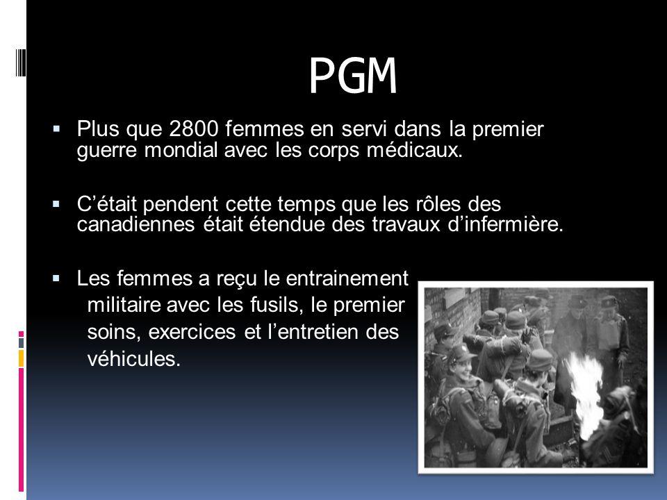 La Service Féminine de lArmée Canadien (CWAC) Le premier rang de militaires seulement pour les femmes était établi le 1 mars 1942 quand le CWAC était intégré dans le militaires.
