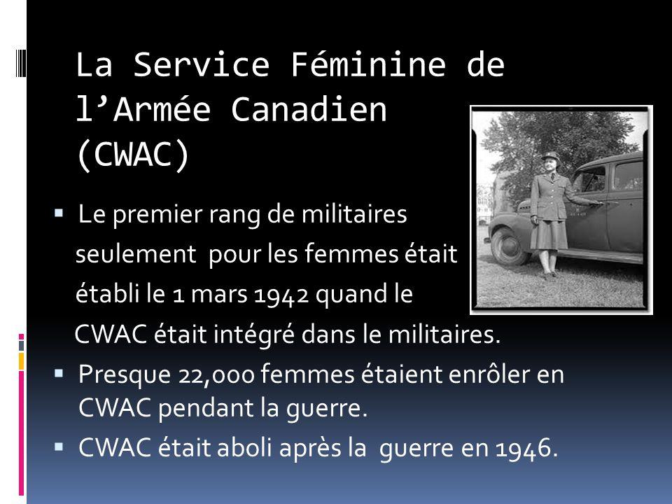 WAAF La Force Féminine Auxiliaire de lAviation, cétait une partie de lRAF pour les femmes.