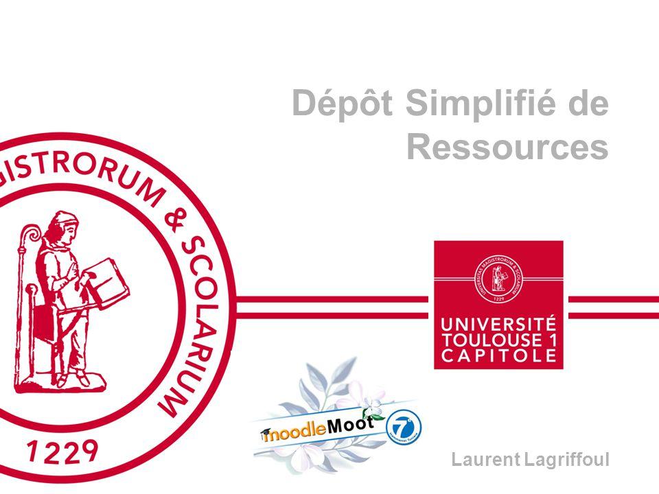 Dépôt Simplifié de Ressources Laurent Lagriffoul