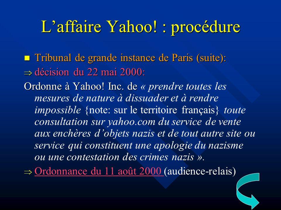 Laffaire Yahoo.