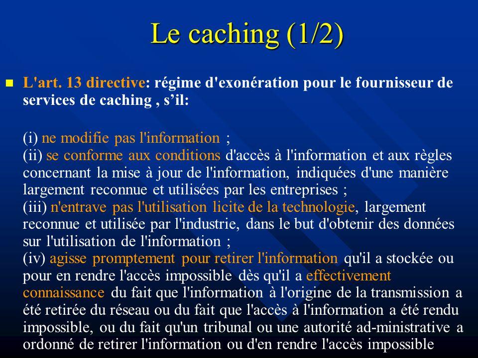 Le caching (1/2) L art.