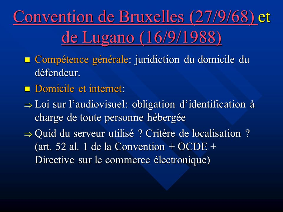 Les hébergeurs (4/5) Art.43-8 de la loi du 30 sept.