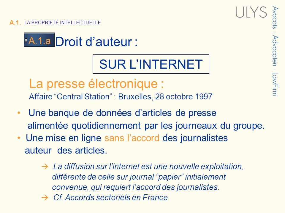 3 TITRE SUR LINTERNET La presse électronique : Affaire Central Station : Bruxelles, 28 octobre 1997 Une banque de données darticles de presse alimentée quotidiennement par les journeaux du groupe.
