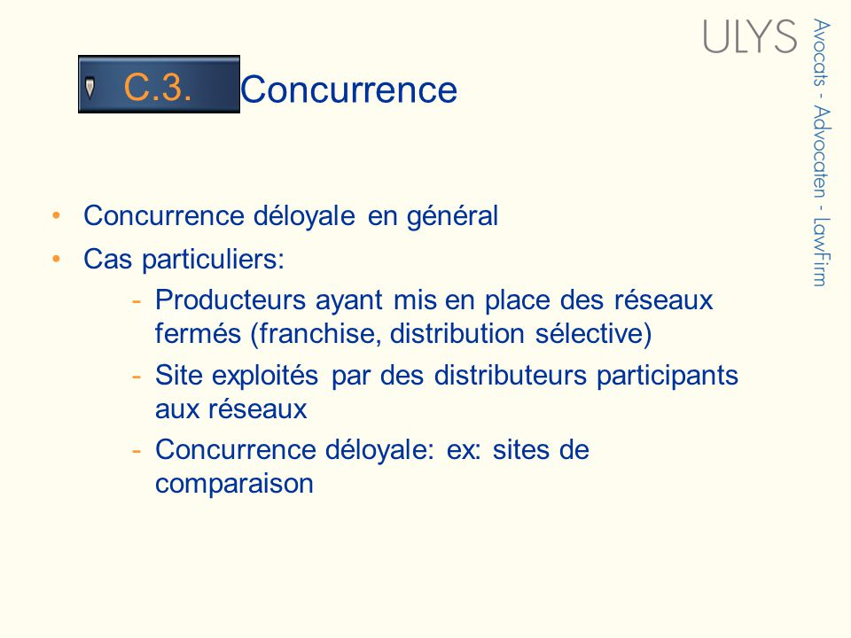 3 TITRE Concurrence C.3.