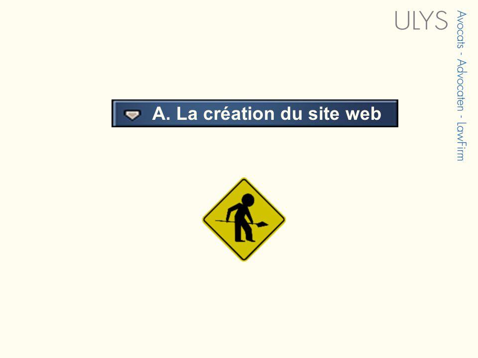 3 TITRE A. La création du site web