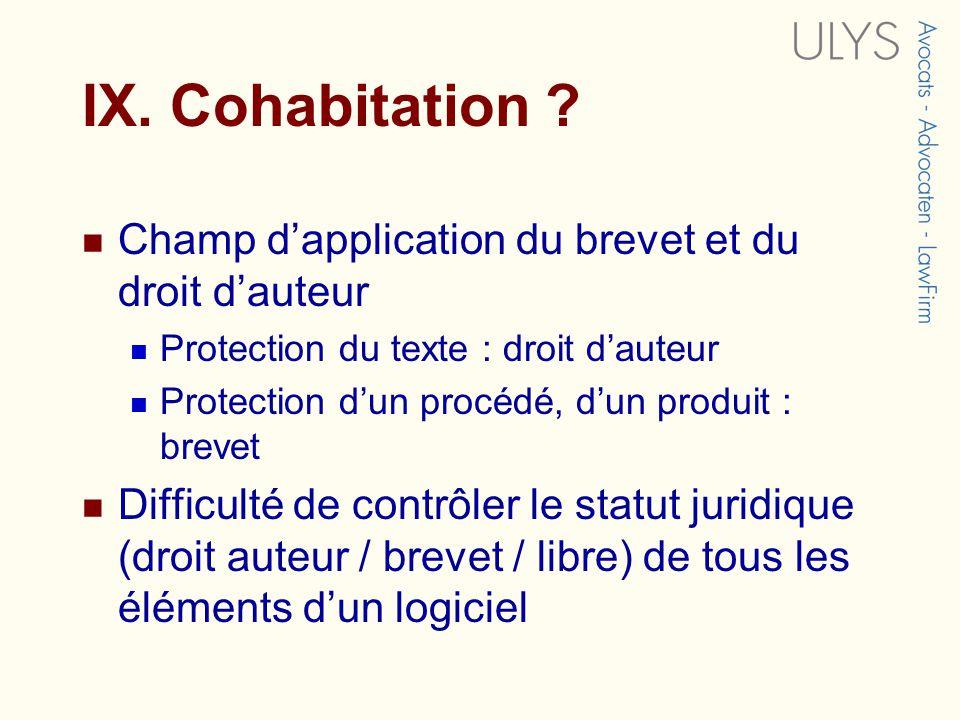 IX.Cohabitation .