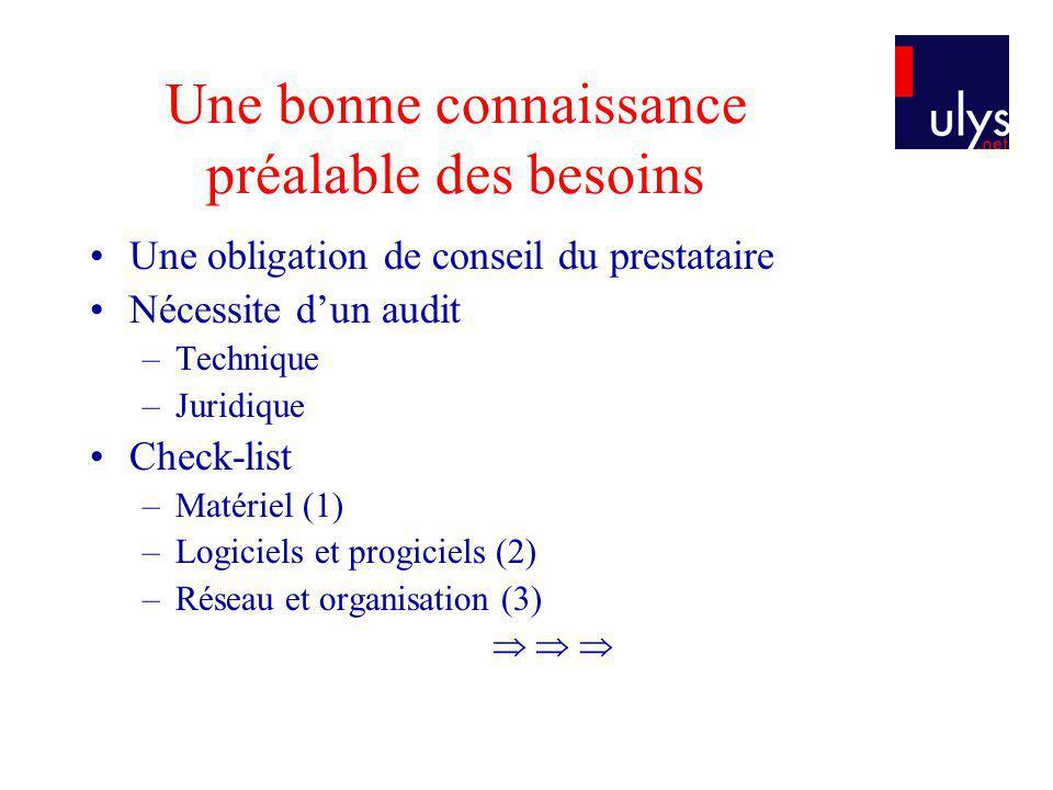 Check-list (1) Matériel .