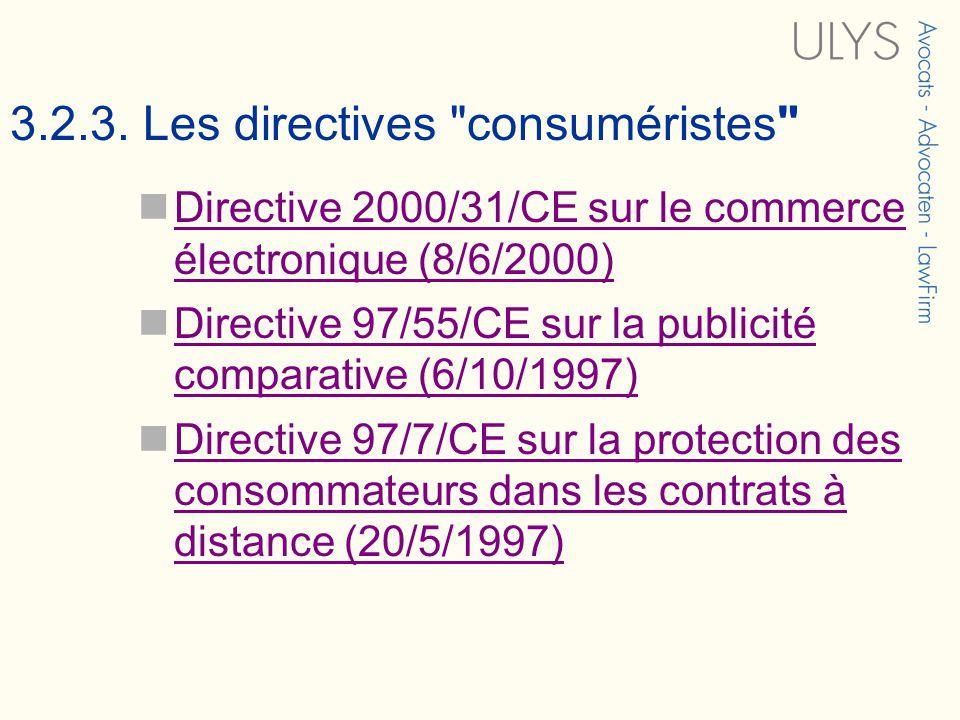 3.2.3. Les directives