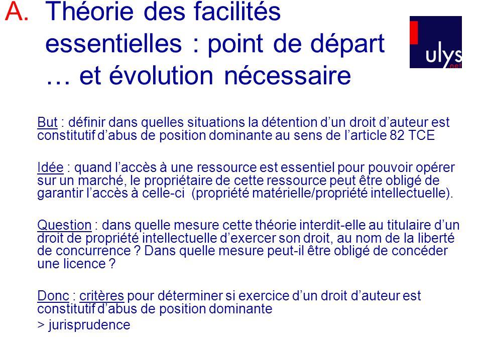 1.Introduction 2.Principes 3.Elaboration des critères du test des « circonstances exceptionnelles » 4.Synthèse : évolution de la jurisprudence B.