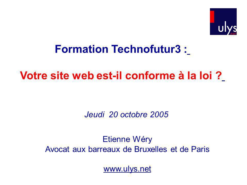 Formation Technofutur3 : Votre site web est-il conforme à la loi .