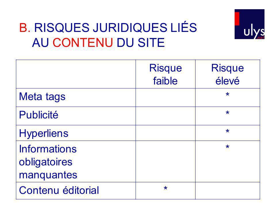 Cf.Tableau récapitulatif => Loi sur le commerce électronique (art.