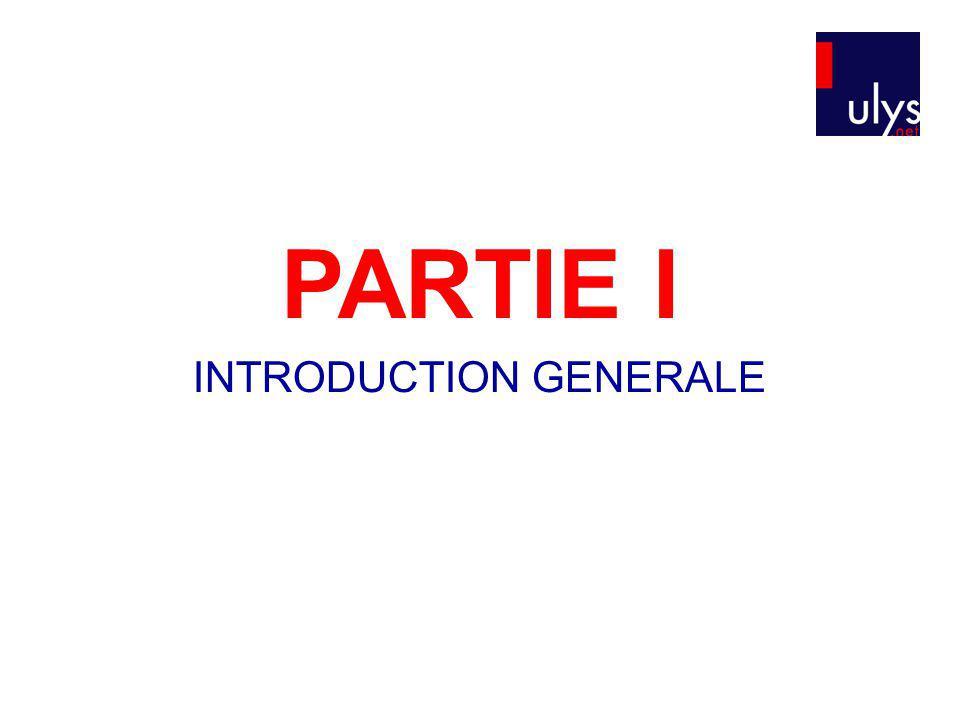 PARTIE I INTRODUCTION GENERALE