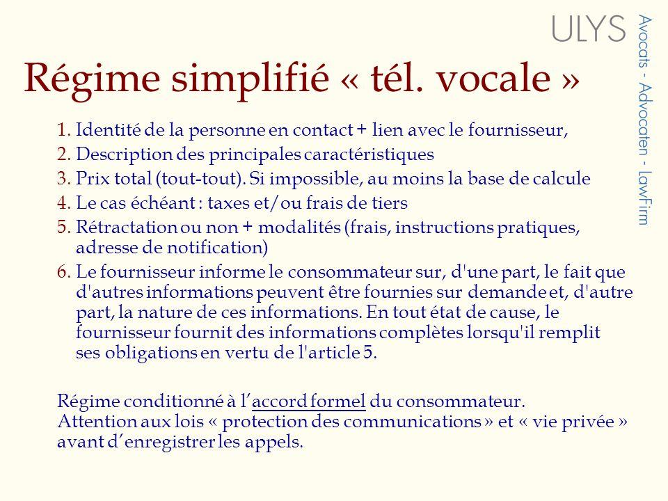 Régime simplifié « tél.vocale » 1.
