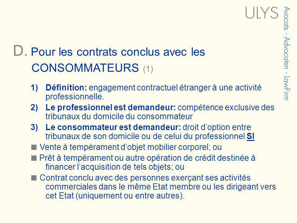 3 TITRE 4)Changement de critère par rapport à la Convention de Bruxelles: démarchages « activités dirigées vers ».