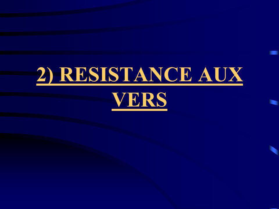 2) RESISTANCE AUX VERS
