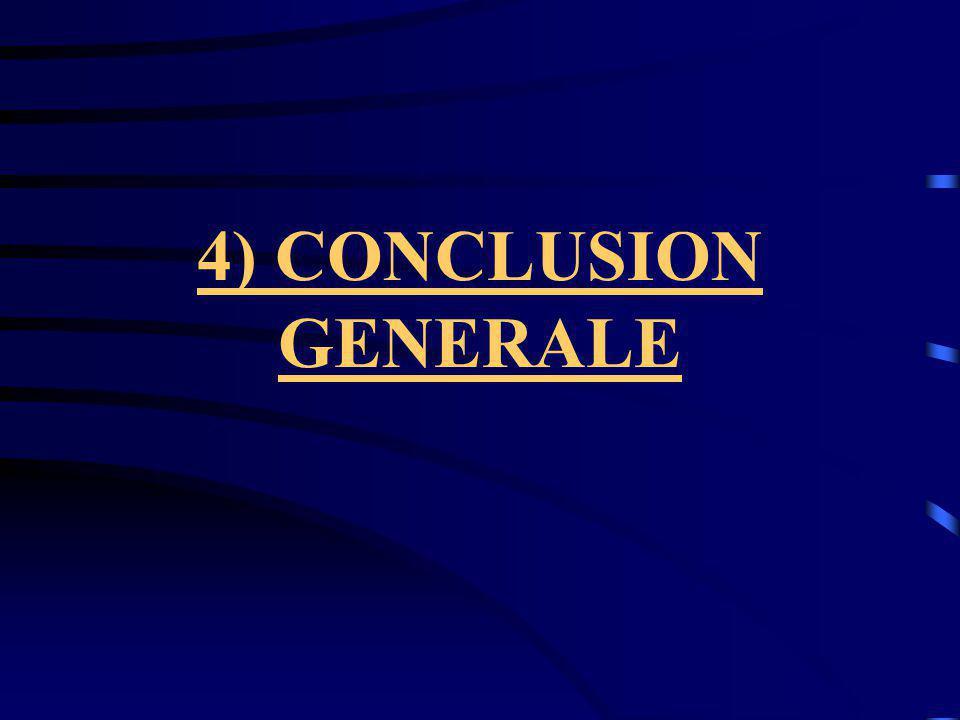 4) CONCLUSION GENERALE