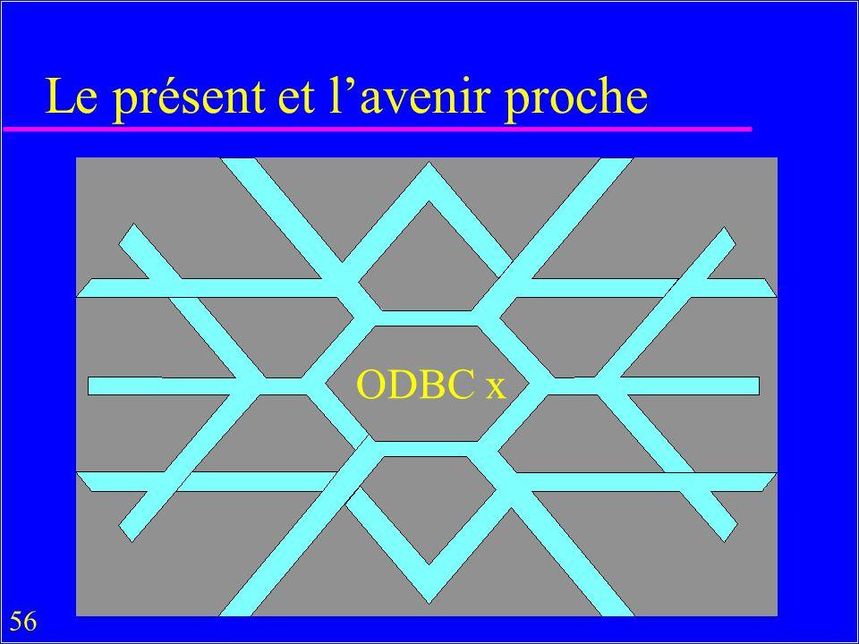 56 Le présent et lavenir proche ODBC x