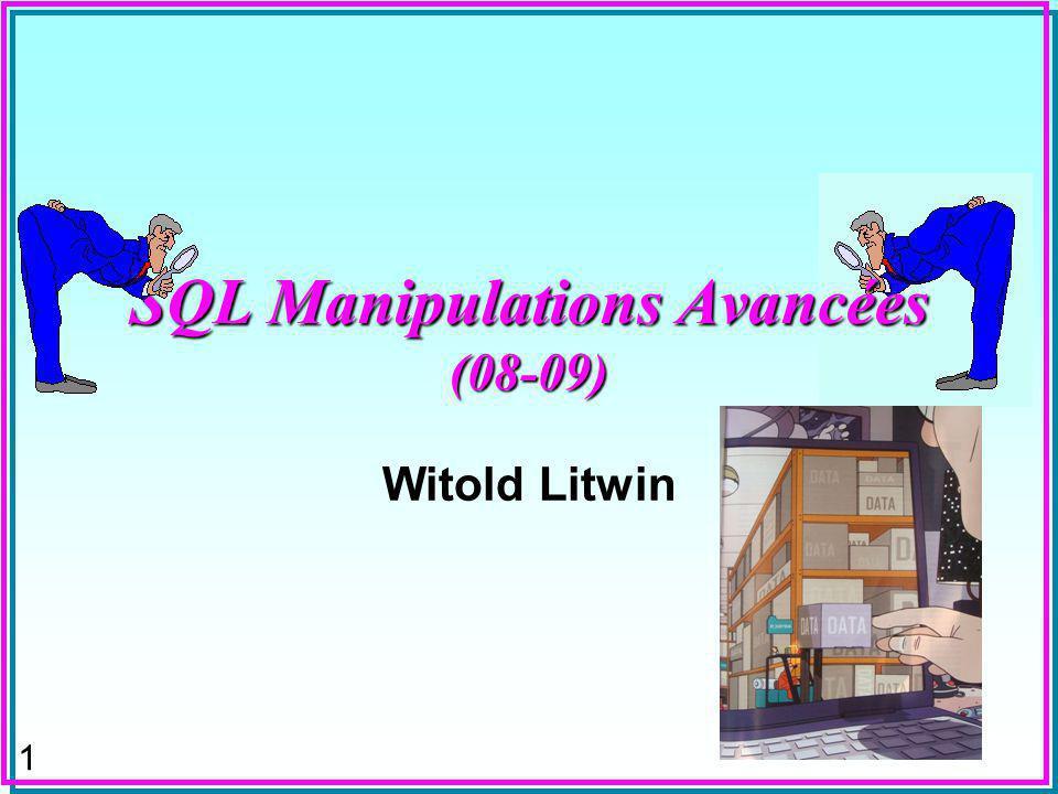 52 LIST Function n Pour en savoir + –Litwin, W.