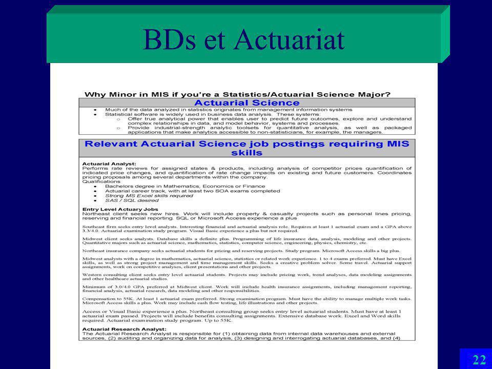 BDs et Actuariat 21