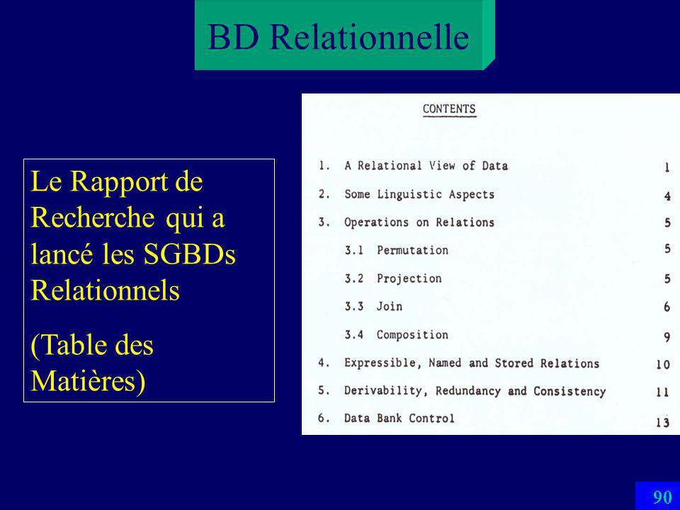 89 BD Relationnelle Le Rapport de Recherche qui a lancé les SGBDs Relationnels (Résumé)