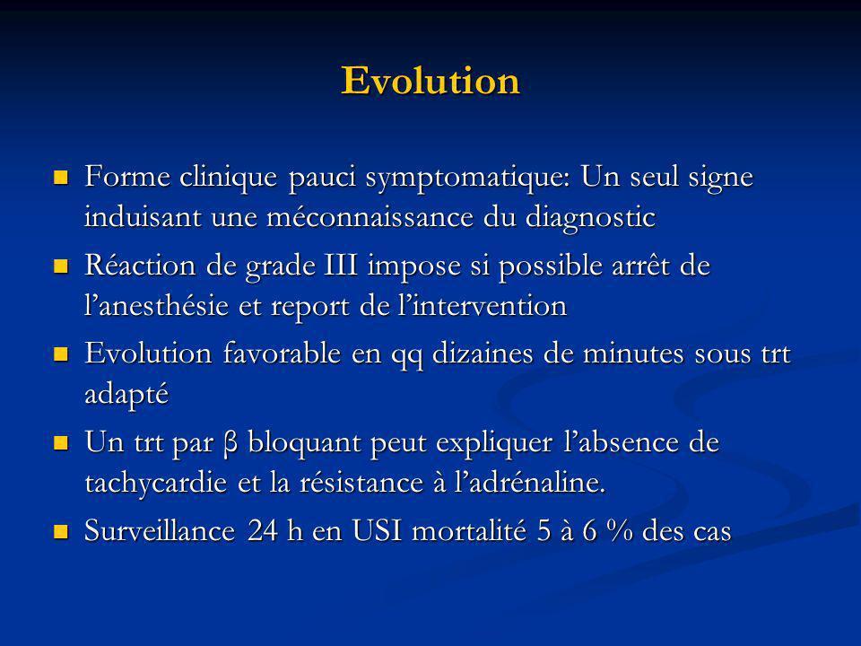 Evolution Forme clinique pauci symptomatique: Un seul signe induisant une méconnaissance du diagnostic Forme clinique pauci symptomatique: Un seul sig