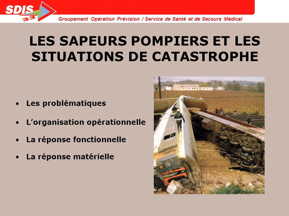 Groupement Opération Prévision / Service de Santé et de Secours Médical MOYENS MATERIELS MOYENS DE SECOURS A NOMBREUSES VICTIMES