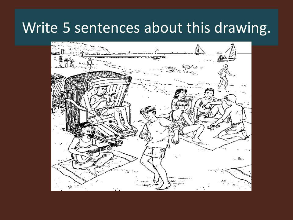 Write 5 sentences about this drawing.