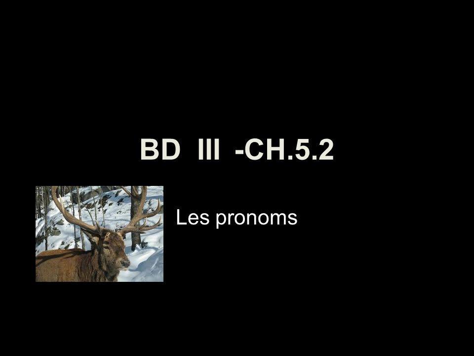 BD III-CH.5.2 Les pronoms