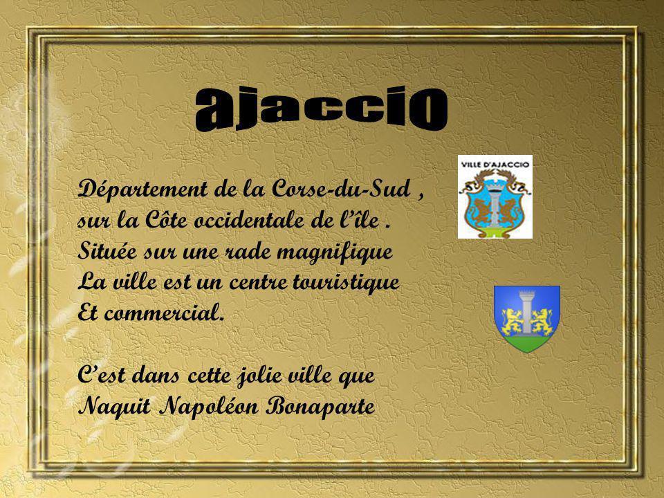 Département de la Corse-du-Sud, sur la Côte occidentale de lîle.