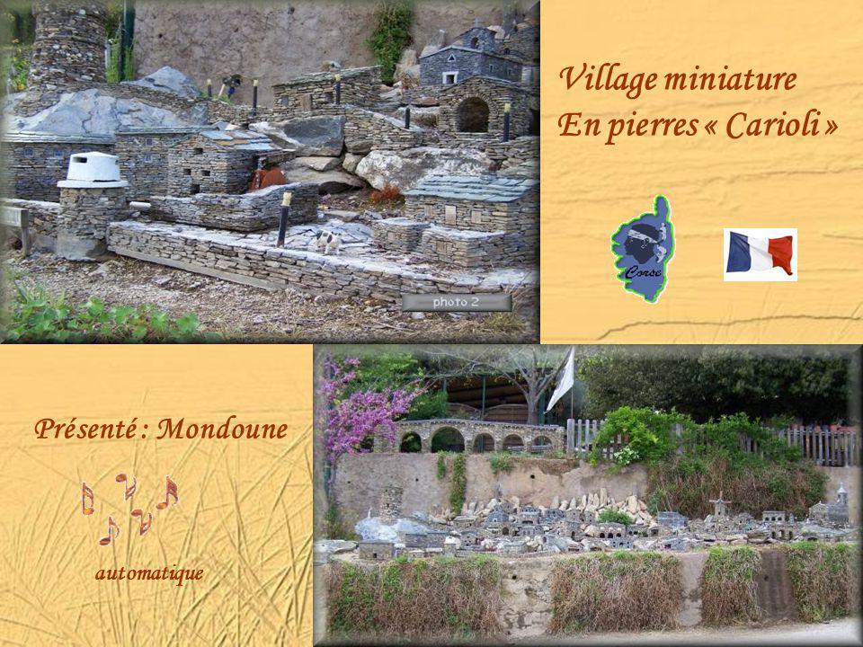 Village miniature En pierres « Carioli » Présenté : Mondoune automatique