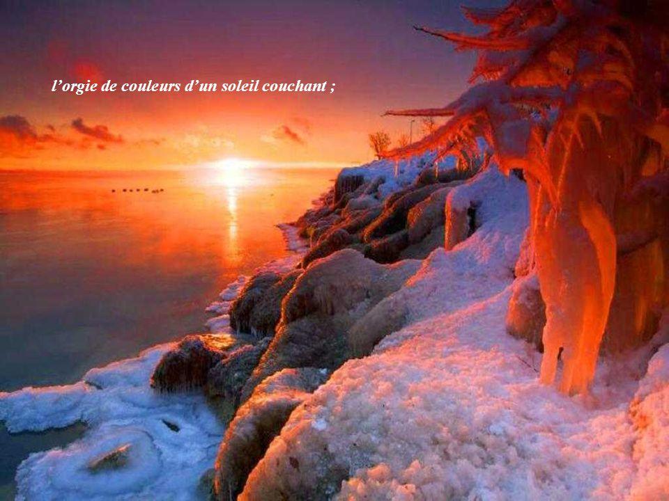 lorgie de couleurs dun soleil couchant ;