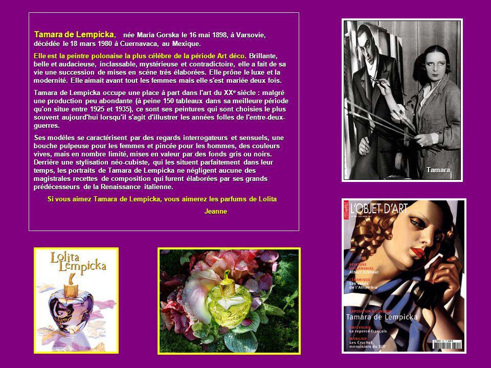 Tamara de Lempicka, née Maria Gorska le 16 mai 1898, à Varsovie, décédée le 18 mars 1980 à Cuernavaca, au Mexique.