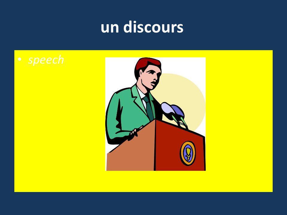 un discours speech