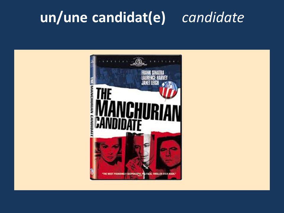 un/une candidat(e)candidate